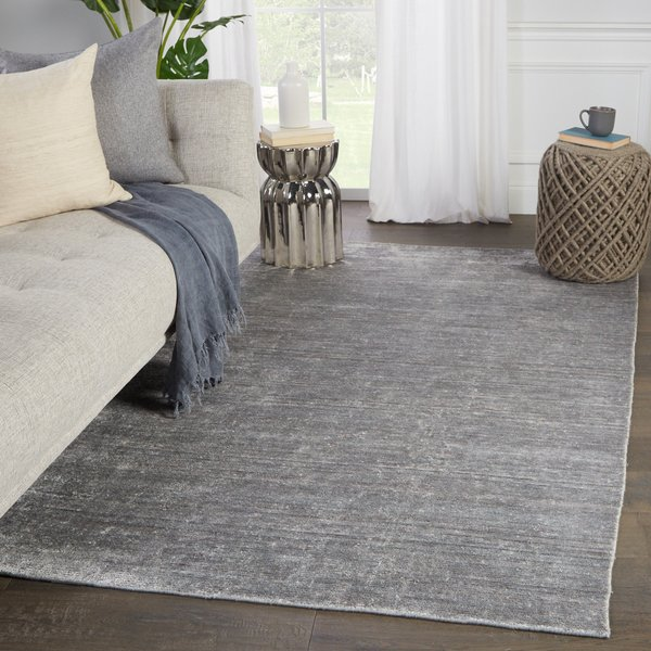 Silver, White (LNT-01) Solid Area Rug