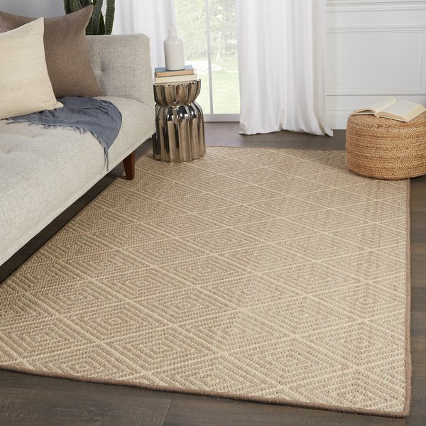 Beige, Light Gray (NBB-02) Natural Fiber Area Rug