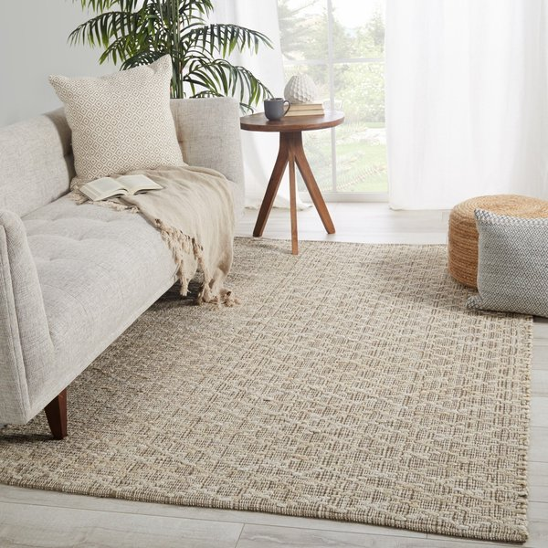 Light Taupe, Ivory (ZLN-02) Natural Fiber Area-Rugs