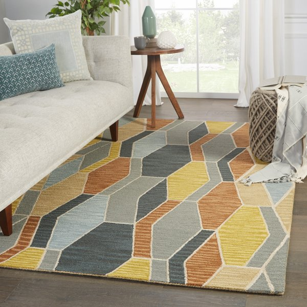 Grey, Gold (AMA-04) Contemporary / Modern Area Rug