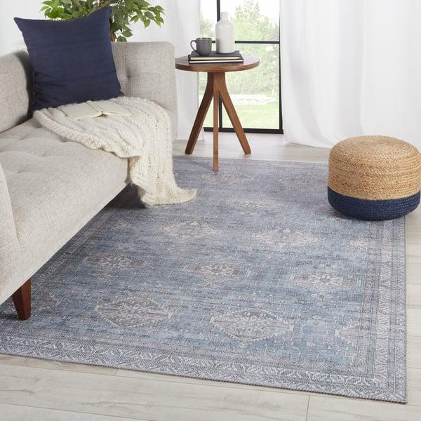 Blue, Grey (KLS-06) Vintage / Overdyed Area Rug