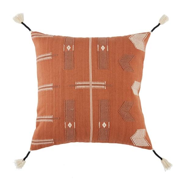 Orange, Cream (NGW-04) Bohemian pillow
