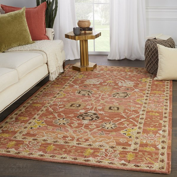 Pink, Gold (COM-12) Traditional / Oriental Area-Rugs