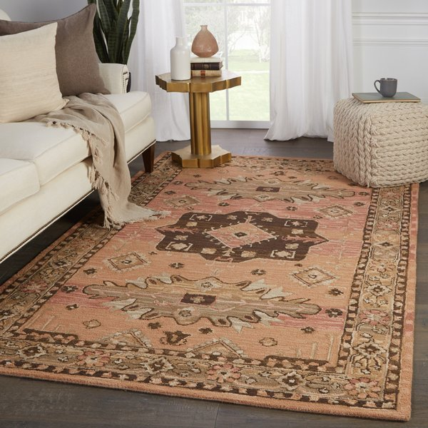 Pink, Brown (COM-05) Traditional / Oriental Area Rug
