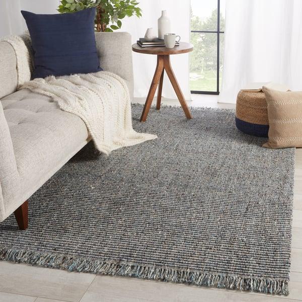 Grey, Blue (BTE-03) Contemporary / Modern Area-Rugs