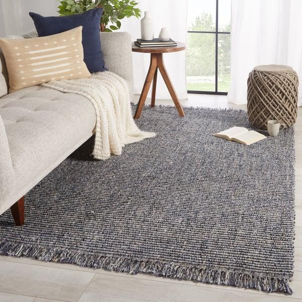 Blue, Grey (BTE-01) Contemporary / Modern Area-Rugs