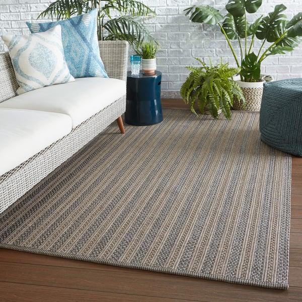 Taupe, Grey (BRO-01) Striped Area-Rugs