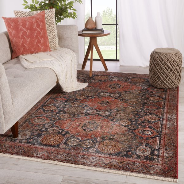 Navy, Red (ZFA-12) Vintage / Overdyed Area Rug