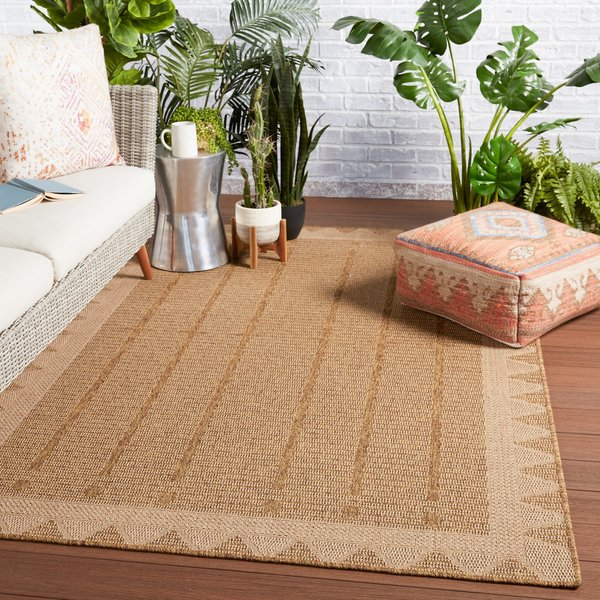 Beige, Light Brown (TAH-04) Contemporary / Modern Area-Rugs