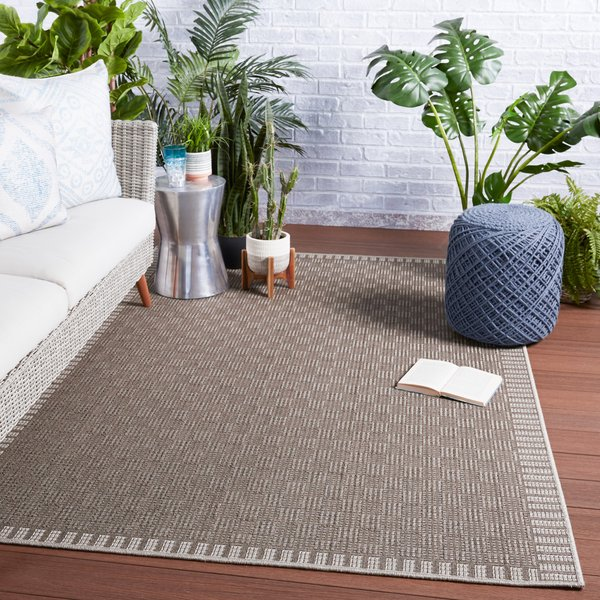 Taupe, Grey (TAH-10) Contemporary / Modern Area-Rugs