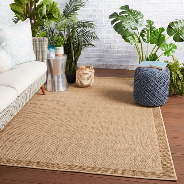 Beige, Light Brown (TAH-06) Contemporary / Modern Area-Rugs