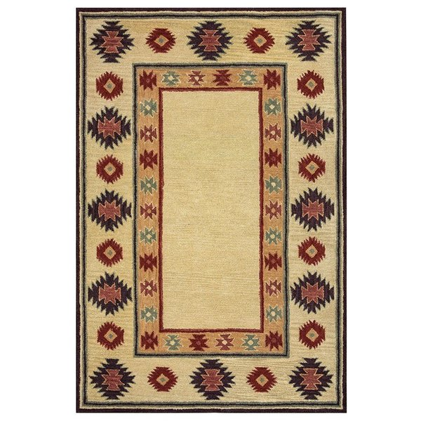 Beige, Light Rust, Dark Rust, Brown Southwestern Area Rug