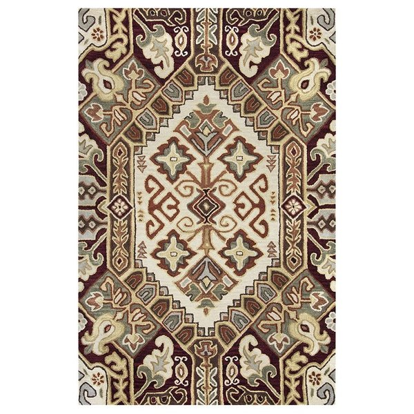 Beige, Red, Olive Moroccan Area Rug