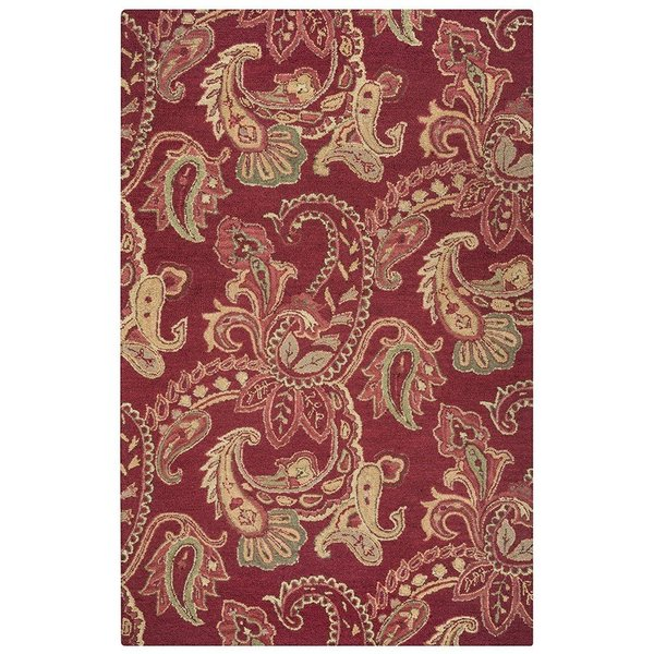 Red, Gold, Slate, Gray Traditional / Oriental Area Rug