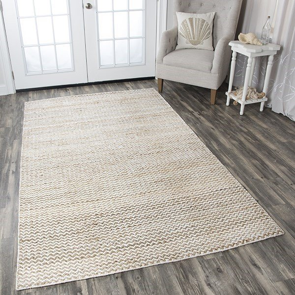 Natural Chevron Area Rug
