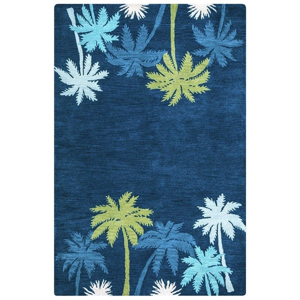 Navy, Blue, Green Beach / Nautical Area Rug