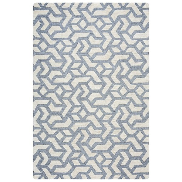 Off White, Grey Contemporary / Modern Area Rug