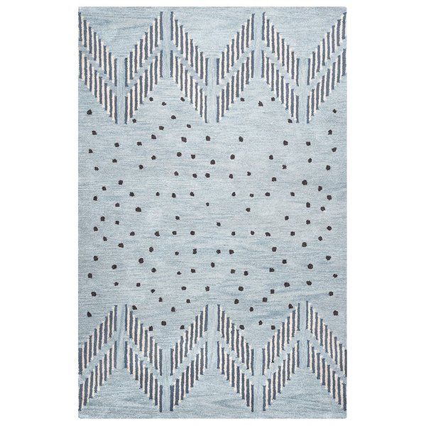 Blue, Navy, Off White Moroccan Area Rug
