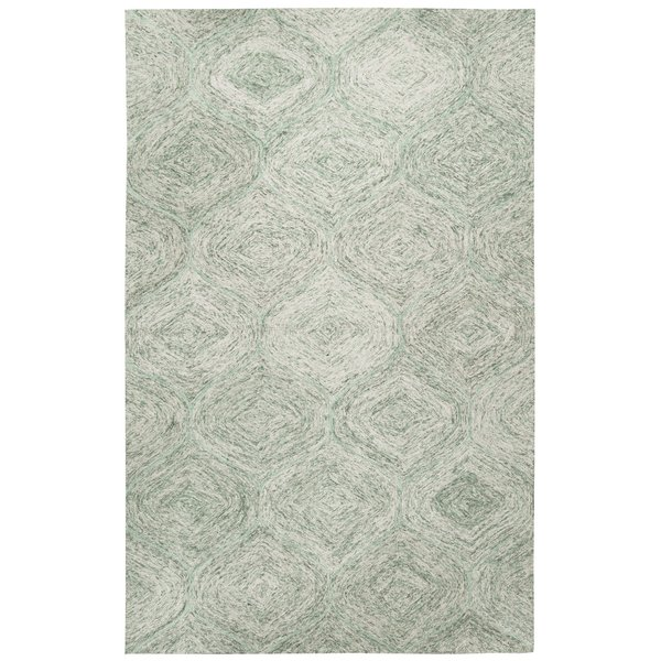 Green, Ivory Contemporary / Modern Area-Rugs