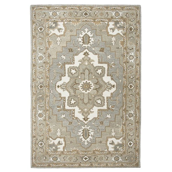 Gray, Natural Traditional / Oriental Area-Rugs