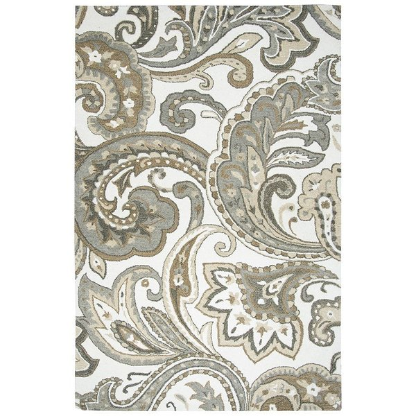 Paisley, Beige Traditional / Oriental Area Rug