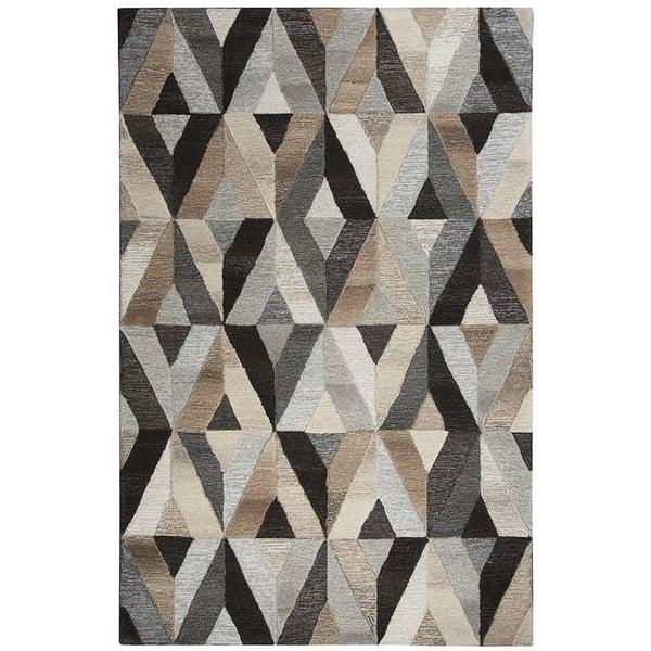 Gray, Natural Contemporary / Modern Area Rug