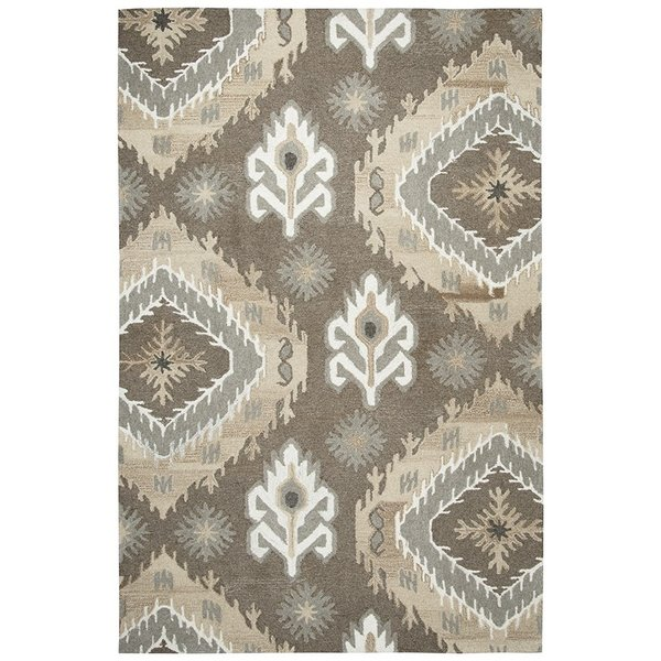 Brown, Natural Southwestern Area Rug