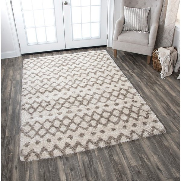 Cream, Beige (AN-693A) Shag Area Rug