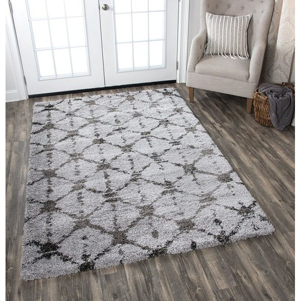 Grey (AN-696A) Shag Area Rug