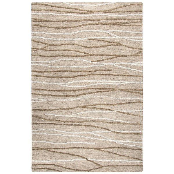 Natural, Brown (A) Contemporary / Modern Area Rug