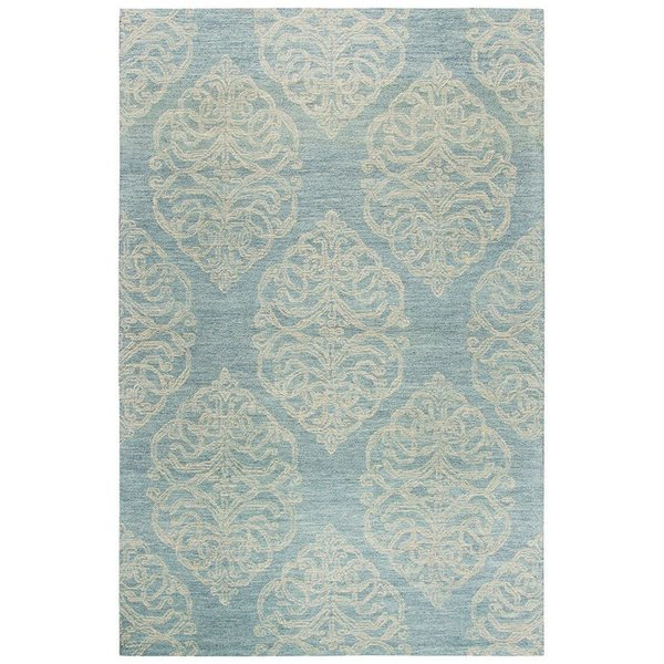 Light Blue, Light Grey, Beige (A) Contemporary / Modern Area Rug