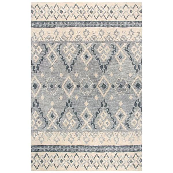 Natural, Dark Grey, Grey (A) Moroccan Area Rug