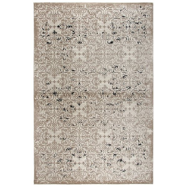 Beige, Taupe, Grey, Black Traditional / Oriental Area Rug