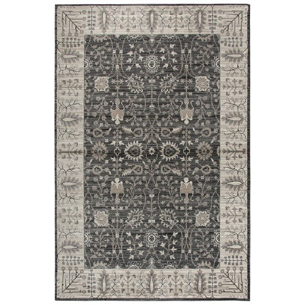 Grey, Taupe, Black Traditional / Oriental Area Rug