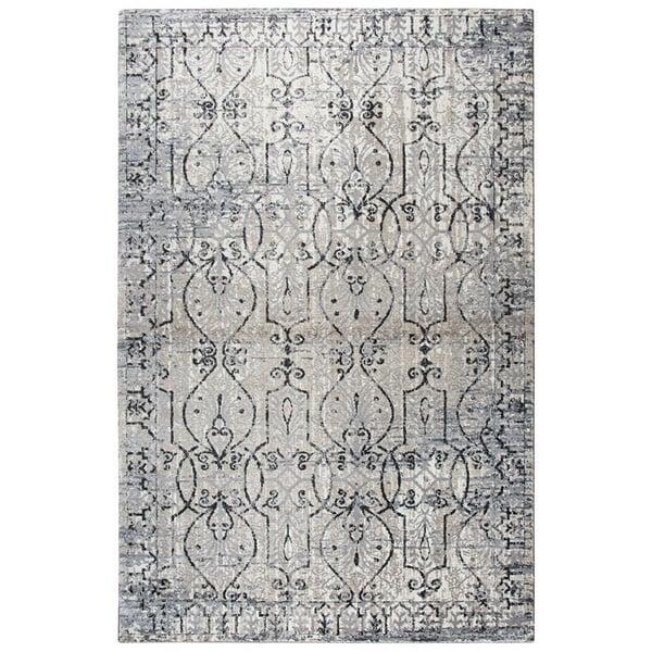 Taupe, Grey, Black Vintage / Overdyed Area Rug