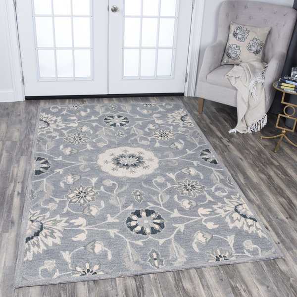 Grey, Tan, Taupe (A) Traditional / Oriental Area Rug