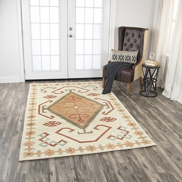 Ivory Moroccan Area Rug