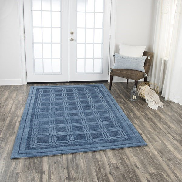 Blue Solid Area-Rugs
