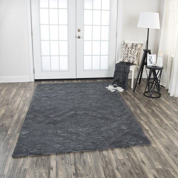 Dark Grey Solid Area Rug