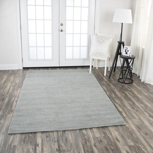 Grey Solid Area Rug