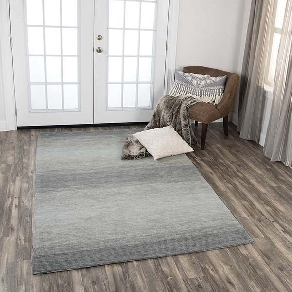 Charcoal, Gray, Ivory (DUN-106) Contemporary / Modern Area Rug