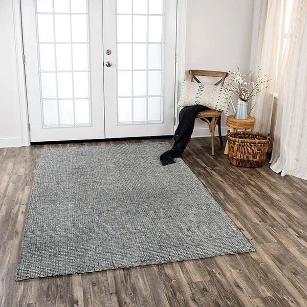 Gray, Dark Gray (TAL-106) Contemporary / Modern Area Rug