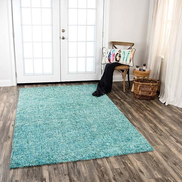 Teal, Beige (TAL-107) Contemporary / Modern Area Rug