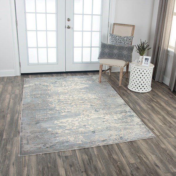 Cream, Grey Vintage / Overdyed Area Rug