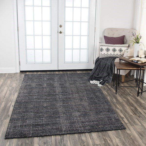 Black, Charcoal (GH-724A) Contemporary / Modern Area Rug