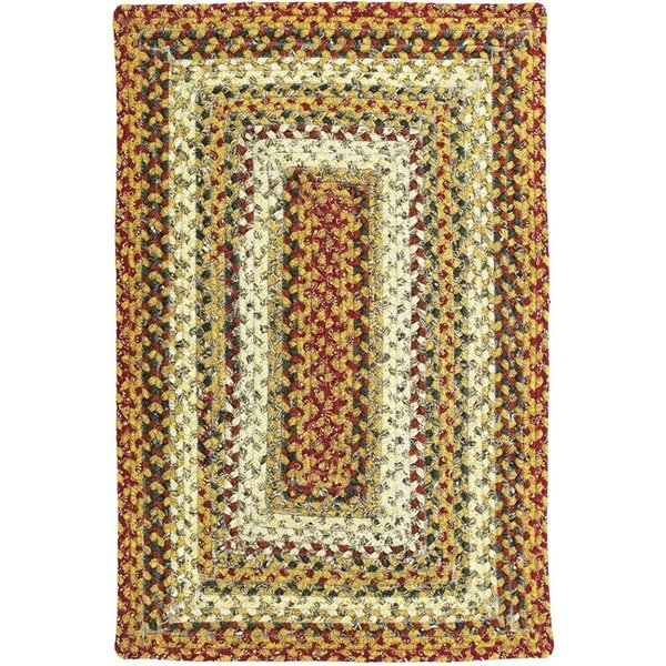 Red, Brown, Green Country Area Rug