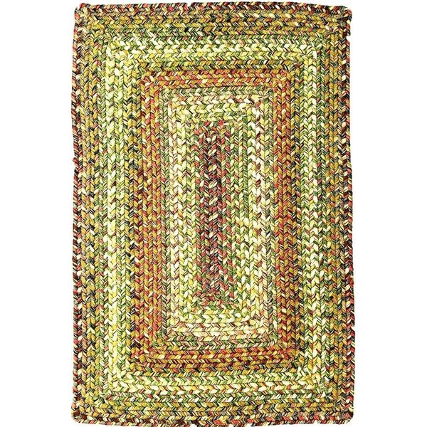 Beige, Red, Green Country Area Rug