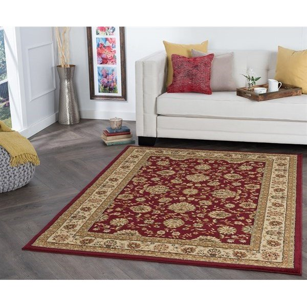 Red, Beige, Black (ELG-5140) Traditional / Oriental Area Rug