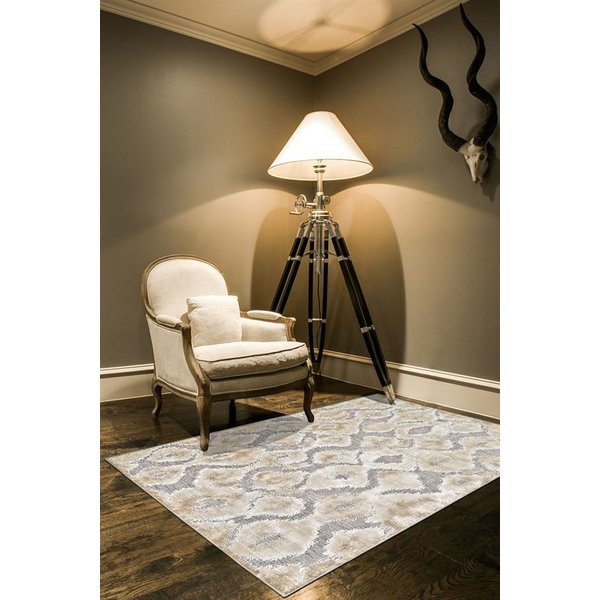 Pewter, Grey Contemporary / Modern Area Rug