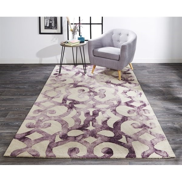 Violet Contemporary / Modern Area Rug